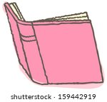 vector illustration of pink book