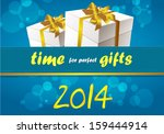 time for gifts   shopping sale... | Shutterstock .eps vector #159444914