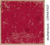 vector retro grungy messy... | Shutterstock .eps vector #159447437