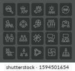 simple set of team work related ... | Shutterstock .eps vector #1594501654