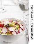 salad fresh vitamin salad.... | Shutterstock . vector #159450551