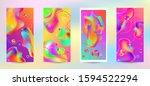 trendy creative vector space... | Shutterstock .eps vector #1594522294