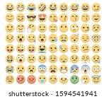 emoji set pack icons for apps    Shutterstock .eps vector #1594541941