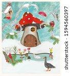 Christmas Card With Snow ...
