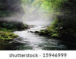 Creek In Hazy Valley