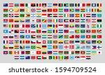 world national flags. official... | Shutterstock . vector #1594709524