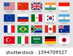 g20 countries flags. major... | Shutterstock . vector #1594709527