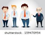 office man characters . vector... | Shutterstock .eps vector #159470954