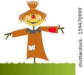 Vector Cartoon Funny Orange...