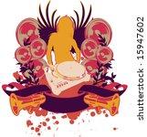 color wing girl silhouette ... | Shutterstock .eps vector #15947602