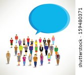 a large group of people gather... | Shutterstock .eps vector #159480371