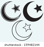 religious islamic star and... | Shutterstock .eps vector #159482144