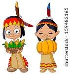 american indian children...   Shutterstock .eps vector #159482165