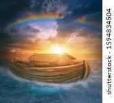 Noah's Ark 3d Under A Rainbow...