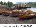 boats in keswick  uk | Shutterstock . vector #159483845