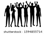 set vector silhouettes men and...   Shutterstock .eps vector #1594855714
