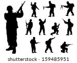 vector drawing of a soldier in... | Shutterstock .eps vector #159485951