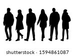 vector silhouettes of  men and... | Shutterstock .eps vector #1594861087