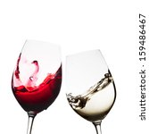Red And White Wine Glasses...