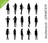 sexy women and model posing... | Shutterstock .eps vector #159487379