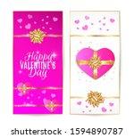 happy valentine's day vector... | Shutterstock .eps vector #1594890787