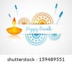 vector diwali greeting design... | Shutterstock .eps vector #159489551