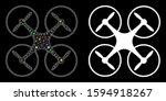 Glossy Mesh Quadcopter Icon...