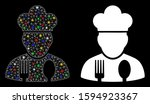 flare mesh cook profession icon ... | Shutterstock .eps vector #1594923367