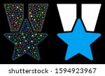 glossy mesh star medal icon...   Shutterstock .eps vector #1594923967
