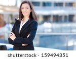 successful young businesswoman... | Shutterstock . vector #159494351