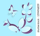 paper flower vector greeting...   Shutterstock .eps vector #159496859