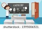 classroom scene with science... | Shutterstock .eps vector #1595006521