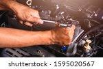 Hand Of Car Auto Mechanic...