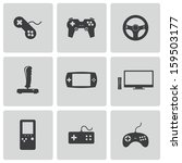 Vector Black Video Game Icons...