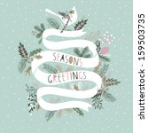 seasons greetings card design | Shutterstock .eps vector #159503735