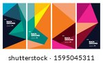 2020 cover and poster design... | Shutterstock .eps vector #1595045311
