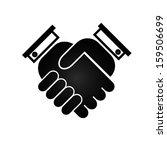 business handshake icon  black... | Shutterstock .eps vector #159506699