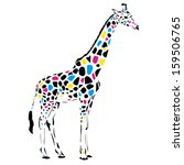 giraffe abstract illustration | Shutterstock . vector #159506765