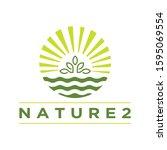 nature logo. circle green design | Shutterstock .eps vector #1595069554