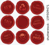 set of red wax seal. isolated... | Shutterstock .eps vector #159509471