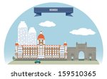 Mumbai, India - stock vector