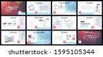business presentation templates....   Shutterstock .eps vector #1595105344