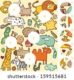 match pieces  visual game....   Shutterstock .eps vector #159515681