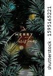elegant christmas typographical ... | Shutterstock .eps vector #1595165221