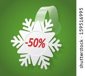 snowflake wobbler isolated on a ...   Shutterstock .eps vector #159516995