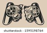 illustration of a broken... | Shutterstock .eps vector #1595198764