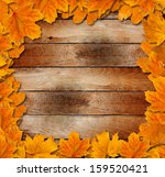 bright autumn leaves on the old ... | Shutterstock . vector #159520421