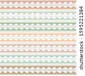vector ethnic boho seamless... | Shutterstock .eps vector #1595221384