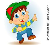 cartoon boy giving you fingers... | Shutterstock .eps vector #159526544