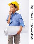young boy engineer | Shutterstock . vector #159532451